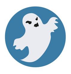 Ghost icon flat style isolated on white vector