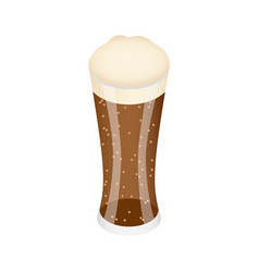 glass of black beer icon isometric style vector image