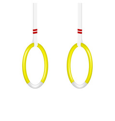 Gymnastic rings in yellow and white design vector