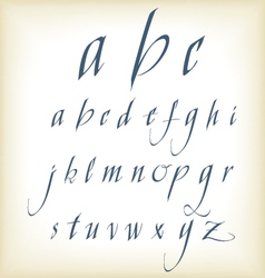 hand drawn calligraphic alphabet vector image