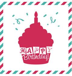 Happy birthday invitation greeting card vector