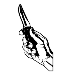 holding a knife vector image