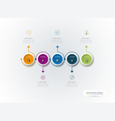 Infographic 3d circle label design vector