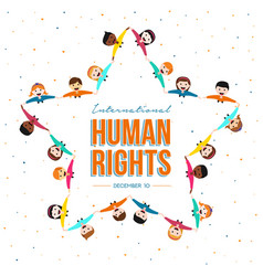 International human rights month of friend group vector