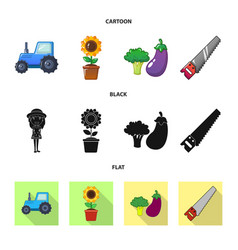 Isolated object of farm and agriculture logo vector