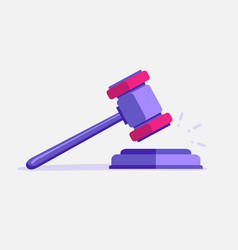 judje hammer icon law gavel auction court hammer vector image