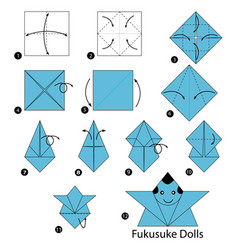 Make origami a japanese dolls vector