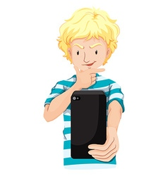 Man taking picture from cellphone vector image