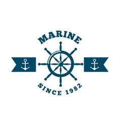 Marine and sea life design vector