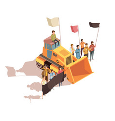Mining protest meeting composition vector