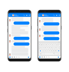 mobile modern ui kit messenger on the smartphone vector image