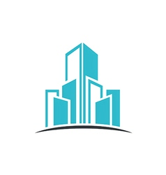 modern building cityscape abstract logo vector image