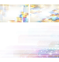 Mosaic abstractions vector image