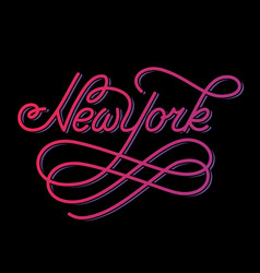 new york hand written city name vector image