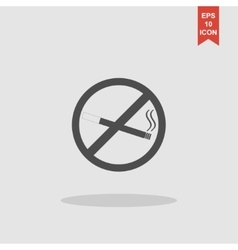 No smoking sign isolated vector image vector image