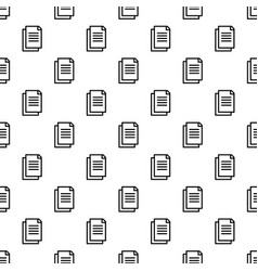 office paper pattern seamless vector image