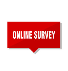 online survey red tag vector image