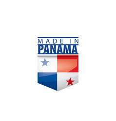 Panama flag on a white vector