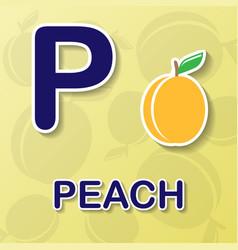 Peach alphabet background vector