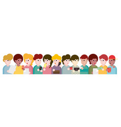 people and friends cartoon vector image