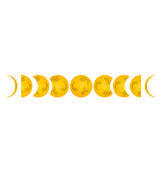 Phase of the moon icon label for web on white vector