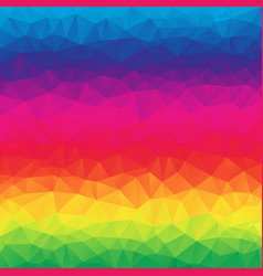 Polygonal square background highlight rainbow vector