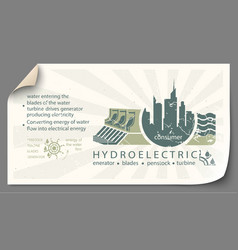 Renewable energy from hydroelectric templates vector