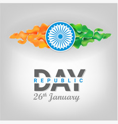Republic day of india vector