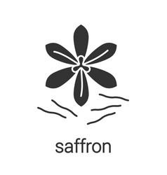 Saffron glyph icon vector