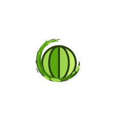 save earth globe logo designs inspiration vector image