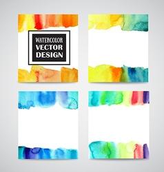 set watercolor backgrounds vector image