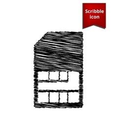 Sim card icon Scribble icon for you design vector image