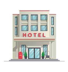 simple modern hotel building vector image