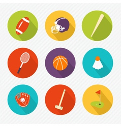 Sports colored Icons set vector
