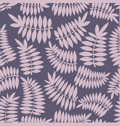 Stylized branch seamless pattern vector