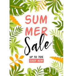 Summer sale banner summer background with vector