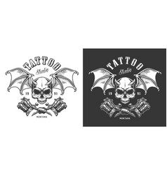 tattoo saloon emblem vector image