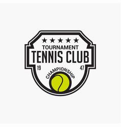 Tennis club badge logo-3 vector