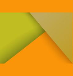 Triangles collage pale green orange vector