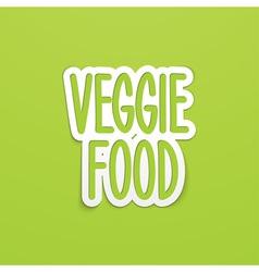 Veggie food hand written calligraphy vector