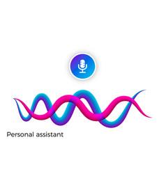 voice recognition voice assistant vector image
