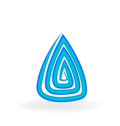 water abstract rock symbol vector image