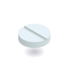 white pill icon vector image