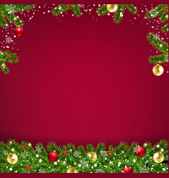 xmas card with garland vector image