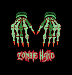 zombie hands vector image