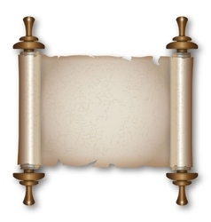 Ancient scroll with handles vector image vector image