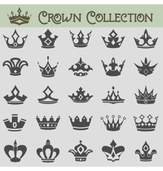 collection of crown silhouettes vector image