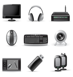 computer device icons vector image vector image
