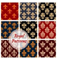 Floral royal ornament and damask patterns vector