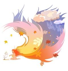 Autumn angel vector image vector image